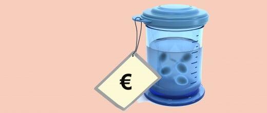 Coste de la muestra de semen de donante